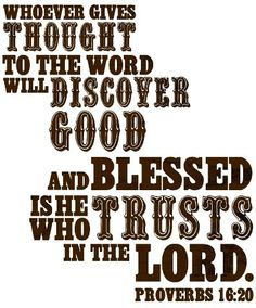 Prov. 16:20