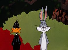 Rabbit Season: Bugs Bunny and Daffy Duck Daffy Duck, Looney Tunes Characters, Looney Tunes Cartoons, Looney Tunes Funny, Bugs Bunny Cartoons, Vintage Cartoons, Classic Cartoons, Cartoon Wallpaper, Rabbit Season