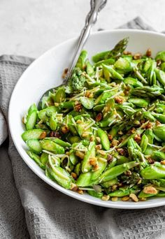 Grilled Asparagus Recipes, Asparagus Salad, How To Cook Asparagus, Asparagus Spears, Baked Asparagus, Clean Recipes, Lunch Recipes, Carb Free Lunch, Ketogenic Salads
