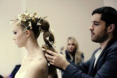 Ethereal wedding hair styling by @LeoBancroft for  the launch of Fetcham Park http://www.lovemydress.net/blog/2011/11/fetcham-sirens.html