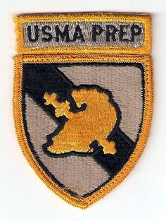 This patch is used by the United States Army Military Academy Prep School. It was authorized in 1957.     #Patriotic