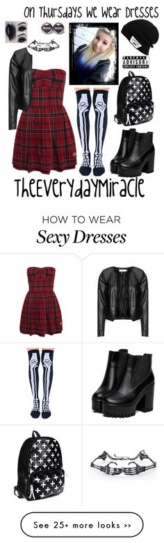 """""""On Thursdays We Wear Dresses"""" by theeverydaymiracle on Polyvore featuring Zizzi, Leg Avenue, Vans and CellPowerCases"""