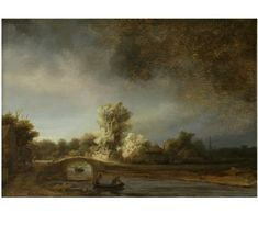 Inch Print - High quality prints (other products available) - Rembrandt Harmenszoon van Rijn Dutch painter. Landscape with a Stone Bridge, c. - Image supplied by Mary Evans Prints Online - Photograph printed in the USA Rembrandt Paintings, Canvas Art, Canvas Prints, Dutch Golden Age, Dutch Painters, Find Art, Photo Wall Art, Van, Giclee Print