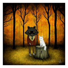 """""""Forever My Fellow"""" by Andy Kehoe  Sold out edition of 200.Measures 6"""" x 6""""      Andy has chosen The Sprout Fund as his artwork's charity. The Sprout Fund is an organization that works to support innovative ideas and grassroots community projects that are catalyzing change in Pittsburgh. Through its programs and activities, Sprout works to enrich the Pittsburgh region's vitality by engaging citizens, amplifying voices, supporting creativity and innovation, and cultivating connected…"""