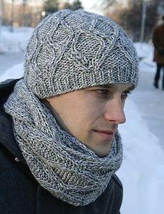 Схемы вязания мужских шапок