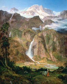 Friedrich Loos, Kolm Saigurn im Rauristal mit dem Sonnblick, 1835 © Residenzgalerie Salzburg