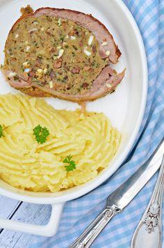 A jó töltött dagadó titka (vagyis receptje)   Rupáner-konyha Hungarian Recipes, Meat Recipes, Bacon, Healthy Living, Spaghetti, Pork, Food And Drink, Pizza, Lunch