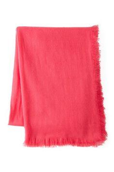 "Lightweight Mongolian Wool Blend Throw - Pink Flambe - 50"" x 70"" by Pur Cashmere on @HauteLook"