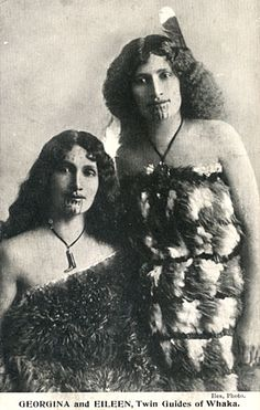 tattooed ladies in the 1800's | Georgina and Eileen, tattooed ladies and twin guides of Whaka