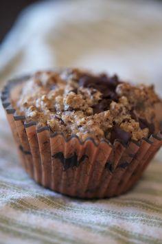 Hazelnut Flour Muffins with Chocolate Chips {paleo, grain-free} - SAMİRA Vegan Muffins, Gluten Free Muffins, Gluten Free Baking, Flour Recipes, Baking Recipes, Cake Recipes, Paleo, Chocolate Flavors, Chocolate Chips