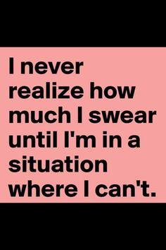 Swearing humor