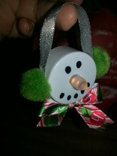 snowman face votive light diy - Google Search