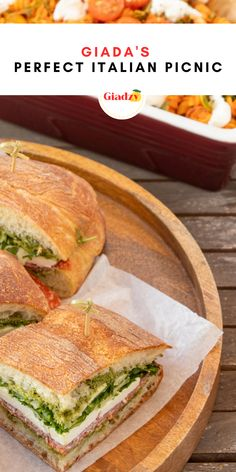 Picnic Lunches, Picnic Foods, Best Picnic Food, Giada Recipes, Cooking Recipes, Picnic Sandwiches, Boat Food, Tailgating Recipes, Tasty