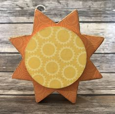 """Summer Sun - June Interchangeable """"O"""" Wood Decor by ScrapHappyPagesStore on Etsy"""