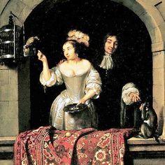 Dutch Baroque painter Caspar Netscher (1639-1684).