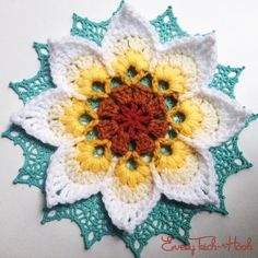 Hi everyone! It's officially week 2 of the Lotus Moon Tiles Crochet-Along. This week we are finishing our flowers and your assignment is as follows: Rounds 4 through 6 of the octagon motifs. …
