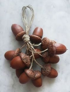 acorn ornaments   ---   pretty if painted multi-colored