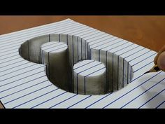 Draw a number 3 on Line Paper 3D Trick Art - YouTube