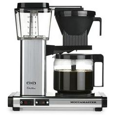Moccamaster KBG 741 Coffee Brewer with Glass Carafe, Black Metallic Technivorm Moccamaster is a manufacturer of premium quality coffee brewers and Carafe, Best Drip Coffee Maker, Design Online Shop, Filter Coffee Machine, Cappuccino Tassen, Pour Over Coffee, Mocca, Great Coffee, Coffee Cups