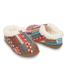 Look at this TOMS Stripe Knit Classics Slipper - Tiny on #zulily today!
