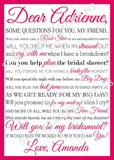 Additional Personalized Bridesmaid Maid of by StaceCadetDesigns