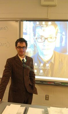 """One to Tennant  """"A real AP physics teacher dressed as Ten...oh my!"""" - SJ"""