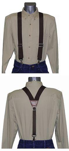 Heavy Duty Black Nylon X-Back Suspenders Scissor Trigger Snaps USA MADE