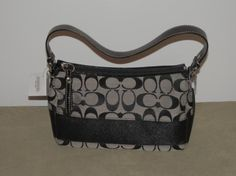 'U Chz Coach Stripe Top Handle SML Hobo Color' is going up for auction at  9pm Sun, Feb 24 with a starting bid of $45.