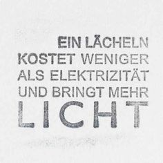 A Smile Costs Less Than Electricity And Brings More Light German