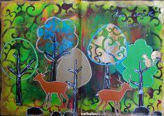 NatKalbach_Arabesque01 Project and stencils designed by Nathalie Kalbach. Stencils by StencilGirl.