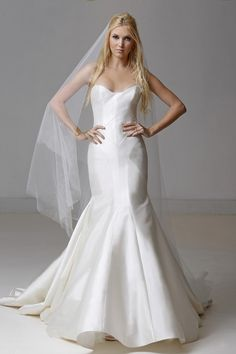 """Carol Hannah """"Tourmaline"""" from Something White, a Bridal Boutique -- perfect for a wedding at MOCA!"""