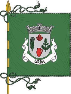 Estandarte da freguesia de Urra - Bandeira - De verde, cordões e borlas de prata e verde. Haste e lança de ouro.