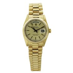 18k Yellow Gold Rolex 18038 Watch