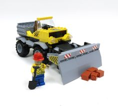 Construction Truck with Push Blade 100 Pc Block Set by IMEX