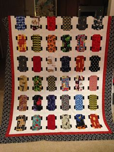 Made for one of My Nephew's son's.  Skateboard Quilt.  Followed the patter on Missouri Quilt Star--Christmas 2015