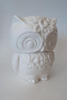 Ms. Lola Vintage Owl Planter with Flowers Made to Order! on Etsy, $17.99