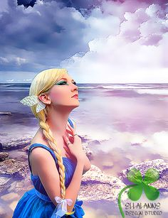 Water Nymph #ellalanne #ellalannedesignstudio #digitalart #digitalpainting #art #artist #artwork #designer #creative #photoshop #photomanipulation #fantasy #magical #emotional #bluedress #editing #retouch