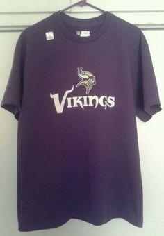Minnesota Vikings NFL Football Team Apparel Purple Shirt Large Bridgewater NEW #NFLTeamApparel #MinnesotaVikings