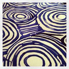 Painterly carpet swirls by Designer Rugs.