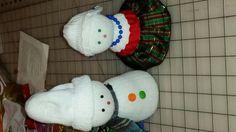 My friend Carole's Mr and Mrs Snowman ♡