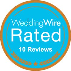 We just earned the WeddingWire Rated Bronze badge for receiving 10+ reviews! http://wed.li/wwrated