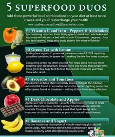 Give these Super Food combinations a try and reap the benefits!!   http://HealthandWellnessDigest.com