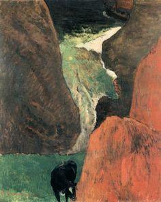 Paul Gauguin, Above the Abyss, 1888, Oil on canvas, 73 x 60 cm, Musée des Arts Décoratifs, Paris