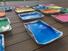 how to make color run powder