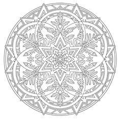 Mandala 738, Creative Haven Snowflake Mandalas Coloring Book, Dover Publications