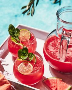 Watermelon Tequila Punch - What's Gaby Cooking Tequila Punch, Watermelon Tequila, Watermelon Punch, Tequila Drinks, Batch Cocktail Recipe, Cocktail Recipes, Drink Recipes, Alcohol Recipes, Easy Margarita Recipe