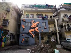 A number of neighbourhoods in the Indian capital, Delhi, are getting a colourful facelift thanks to an unique street art festival, reports Govind Dhar. Murals Street Art, 14th Century, Art Festival, Urban Art, Asia, Around The Worlds, Gallery, Modern, Delhi India