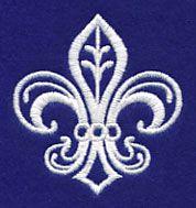 Fleur De Lis (Whitework) design (M10818) from www.Emblibrary.com