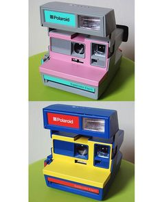 Hard to choose the coolest one … Polaroid Supercolor Espirit, 1980s … Pics from Flickr: 'lash tan' … #conceptdesign #productdesign #retrodesign #80scolors #pastel #80sphoto #80scamera #retrowave #neontalk #designdreams #polaroid #80spolaroid #polaroidsupercolor #polaroidsupercoloresprit