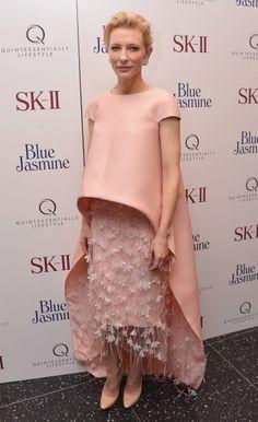 Cate Blanchett in Balenciaga at the Blue Jasmine New York Premiere